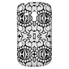 Psychedelic Pattern Flower Crown Black Flower Galaxy S3 Mini by Mariart