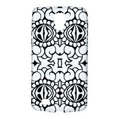 Psychedelic Pattern Flower Crown Black Flower Galaxy S4 Active by Mariart
