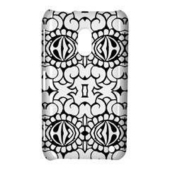 Psychedelic Pattern Flower Crown Black Flower Nokia Lumia 620 by Mariart