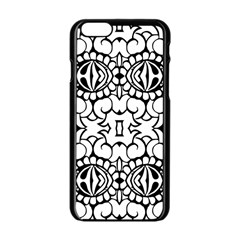 Psychedelic Pattern Flower Crown Black Flower Apple Iphone 6/6s Black Enamel Case by Mariart