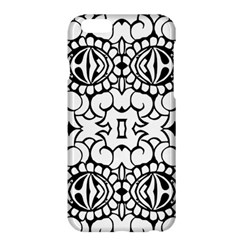 Psychedelic Pattern Flower Crown Black Flower Apple Iphone 6 Plus/6s Plus Hardshell Case by Mariart