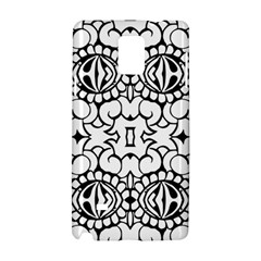 Psychedelic Pattern Flower Crown Black Flower Samsung Galaxy Note 4 Hardshell Case by Mariart