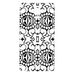 Psychedelic Pattern Flower Crown Black Flower Galaxy Note 4 Back Case by Mariart