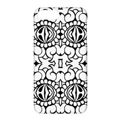 Psychedelic Pattern Flower Crown Black Flower Apple Iphone 7 Plus Hardshell Case by Mariart