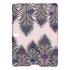 Peacock Feather Pattern Pink Love Heart Samsung Galaxy Tab S (10 5 ) Hardshell Case  by Mariart