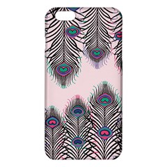 Peacock Feather Pattern Pink Love Heart Iphone 6 Plus/6s Plus Tpu Case by Mariart