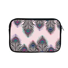Peacock Feather Pattern Pink Love Heart Apple Macbook Pro 13  Zipper Case by Mariart