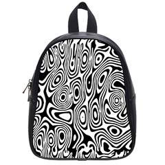 Psychedelic Zebra Black White School Bag (small) by Mariart