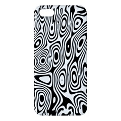 Psychedelic Zebra Black White Apple Iphone 5 Premium Hardshell Case by Mariart