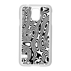 Psychedelic Zebra Black White Samsung Galaxy S5 Case (white) by Mariart