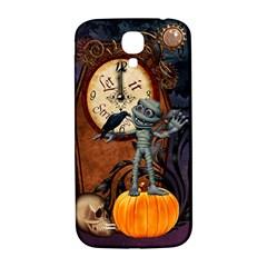 Funny Mummy With Skulls, Crow And Pumpkin Samsung Galaxy S4 I9500/i9505  Hardshell Back Case by FantasyWorld7