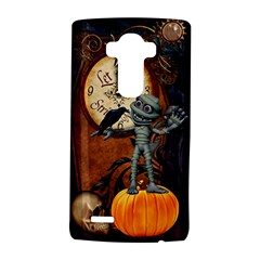 Funny Mummy With Skulls, Crow And Pumpkin Lg G4 Hardshell Case by FantasyWorld7