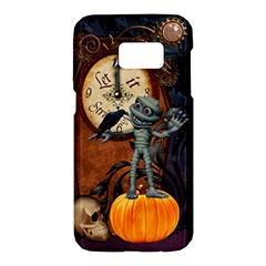 Funny Mummy With Skulls, Crow And Pumpkin Samsung Galaxy S7 Hardshell Case  by FantasyWorld7