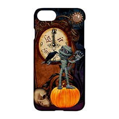 Funny Mummy With Skulls, Crow And Pumpkin Apple Iphone 7 Hardshell Case by FantasyWorld7