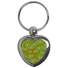 Relativity Pattern Moon Star Polka Dots Green Space Key Chains (heart)  by Mariart