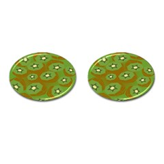Relativity Pattern Moon Star Polka Dots Green Space Cufflinks (oval) by Mariart