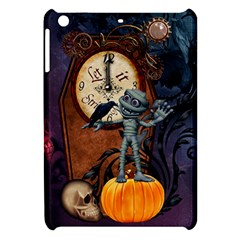Funny Mummy With Skulls, Crow And Pumpkin Apple Ipad Mini Hardshell Case