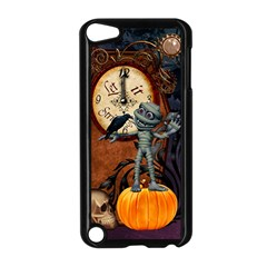 Funny Mummy With Skulls, Crow And Pumpkin Apple Ipod Touch 5 Case (black) by FantasyWorld7