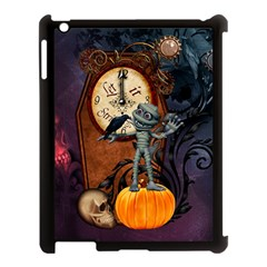 Funny Mummy With Skulls, Crow And Pumpkin Apple Ipad 3/4 Case (black) by FantasyWorld7