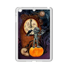 Funny Mummy With Skulls, Crow And Pumpkin Ipad Mini 2 Enamel Coated Cases by FantasyWorld7