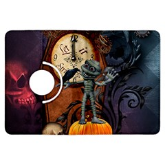 Funny Mummy With Skulls, Crow And Pumpkin Kindle Fire Hdx Flip 360 Case by FantasyWorld7