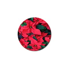 Red Poinsettia Flower Golf Ball Marker (10 Pack) by Mariart