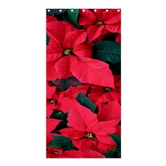 Red Poinsettia Flower Shower Curtain 36  X 72  (stall)  by Mariart