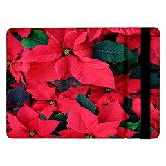 Red Poinsettia Flower Samsung Galaxy Tab Pro 12 2  Flip Case by Mariart