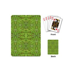 Digital Nature Collage Pattern Playing Cards (mini)  by dflcprints