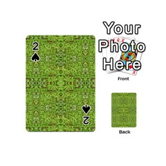 Digital Nature Collage Pattern Playing Cards 54 (mini)  by dflcprints