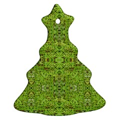 Digital Nature Collage Pattern Ornament (christmas Tree)  by dflcprints
