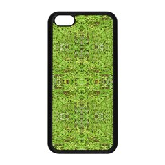 Digital Nature Collage Pattern Apple Iphone 5c Seamless Case (black) by dflcprints