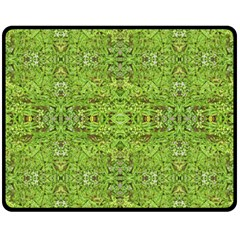 Digital Nature Collage Pattern Double Sided Fleece Blanket (medium)  by dflcprints