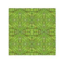 Digital Nature Collage Pattern Small Satin Scarf (square) by dflcprints