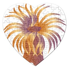 Sea Anemone Jigsaw Puzzle (heart) by Mariart