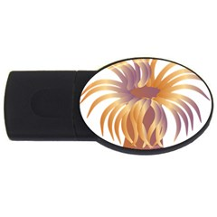Sea Anemone Usb Flash Drive Oval (4 Gb) by Mariart