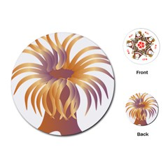 Sea Anemone Playing Cards (round)  by Mariart