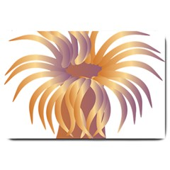 Sea Anemone Large Doormat  by Mariart
