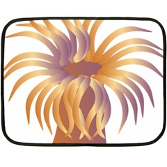 Sea Anemone Double Sided Fleece Blanket (mini)  by Mariart