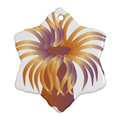 Sea Anemone Snowflake Ornament (two Sides) by Mariart