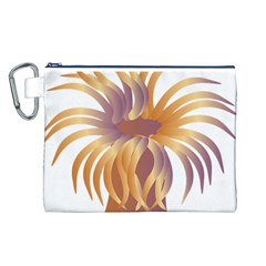 Sea Anemone Canvas Cosmetic Bag (l) by Mariart