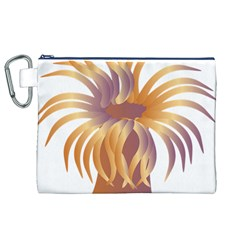 Sea Anemone Canvas Cosmetic Bag (xl) by Mariart