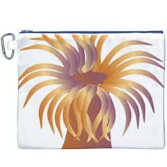 Sea Anemone Canvas Cosmetic Bag (xxxl) by Mariart