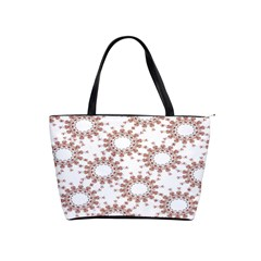 Pattern Flower Floral Star Circle Love Valentine Heart Pink Red Folk Shoulder Handbags by Mariart