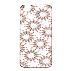 Pattern Flower Floral Star Circle Love Valentine Heart Pink Red Folk Apple Iphone 4/4s Seamless Case (black) by Mariart