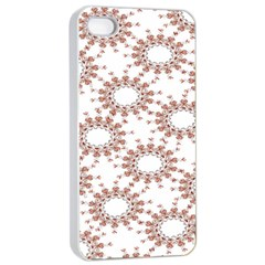 Pattern Flower Floral Star Circle Love Valentine Heart Pink Red Folk Apple Iphone 4/4s Seamless Case (white) by Mariart