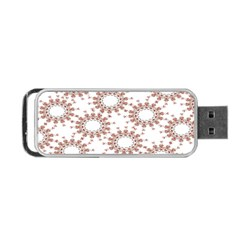 Pattern Flower Floral Star Circle Love Valentine Heart Pink Red Folk Portable Usb Flash (two Sides) by Mariart