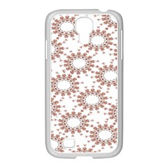 Pattern Flower Floral Star Circle Love Valentine Heart Pink Red Folk Samsung Galaxy S4 I9500/ I9505 Case (white) by Mariart