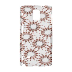 Pattern Flower Floral Star Circle Love Valentine Heart Pink Red Folk Samsung Galaxy Note 4 Hardshell Case by Mariart