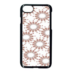 Pattern Flower Floral Star Circle Love Valentine Heart Pink Red Folk Apple Iphone 7 Seamless Case (black) by Mariart